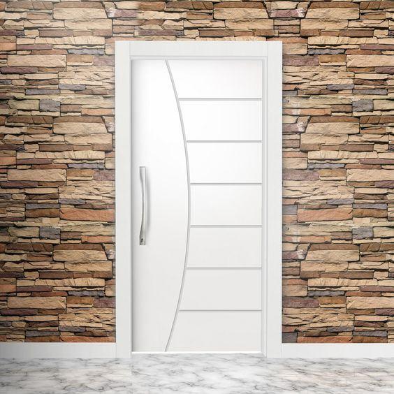 Tipos de portas: porta com desenho