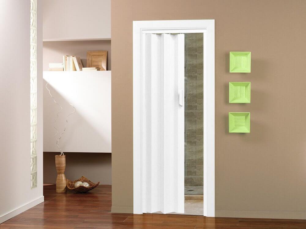 Tipos de portas: porta sanfonada