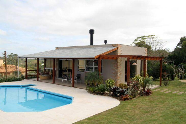 Tipos de telhados: telhado de 1 água
