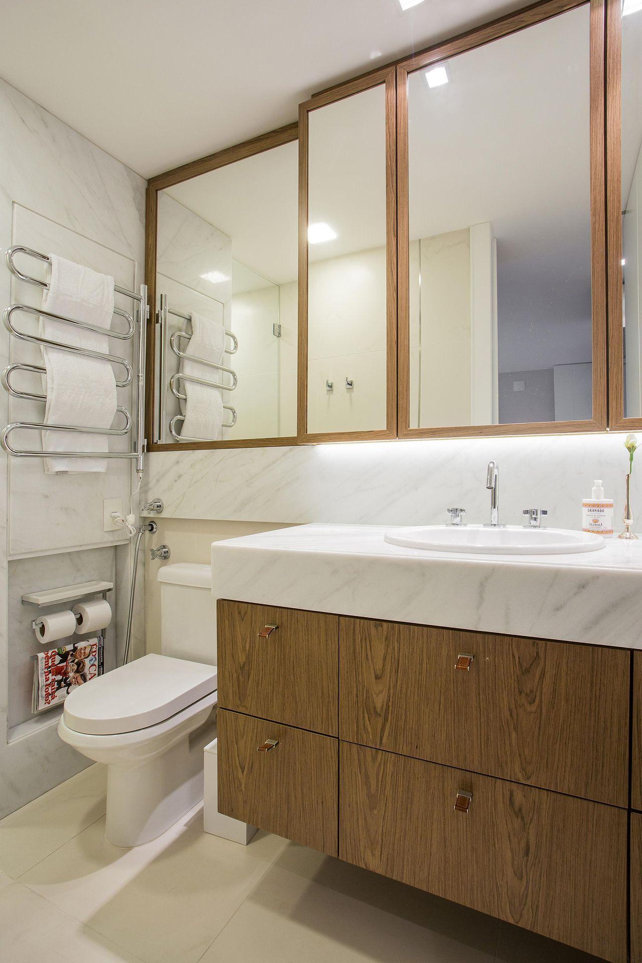 Tipos de cuba para banheiro: cubra de sobrepor (Projeto: Karla Silva)