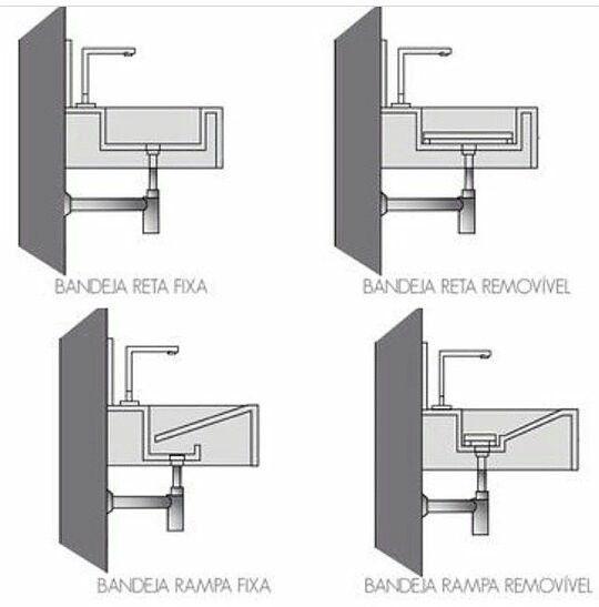 Tipos de cubas para banheiro: detalhamento da bandeja