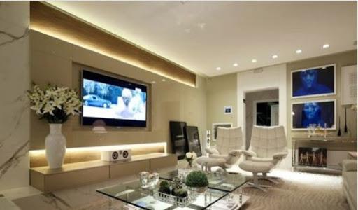 iluminação de sala de TV: balizadores