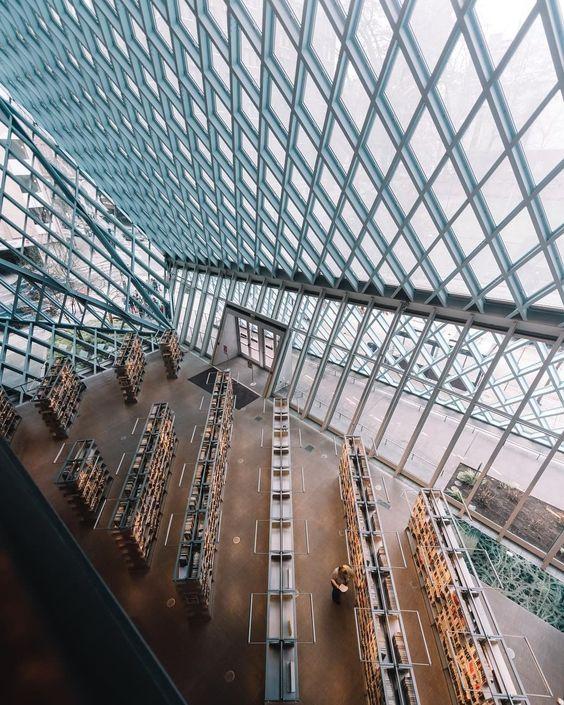 Projeto de biblioteca: Biblioteca de Seattle (interior)