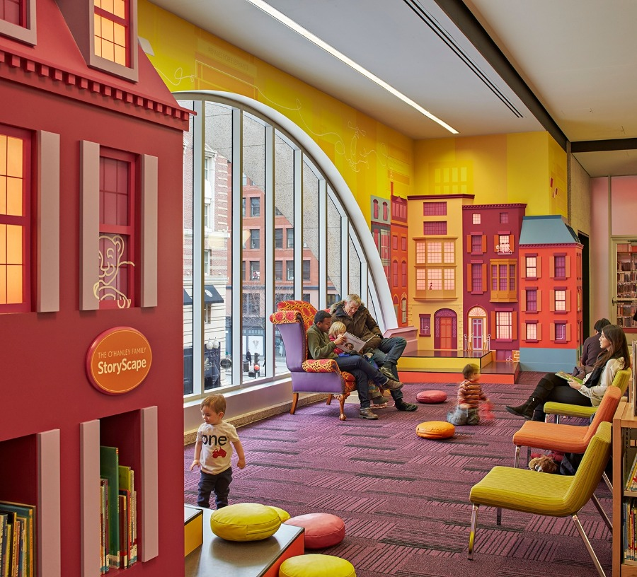 Projeto de biblioteca: Biblioteca na Cople Square (EUA)