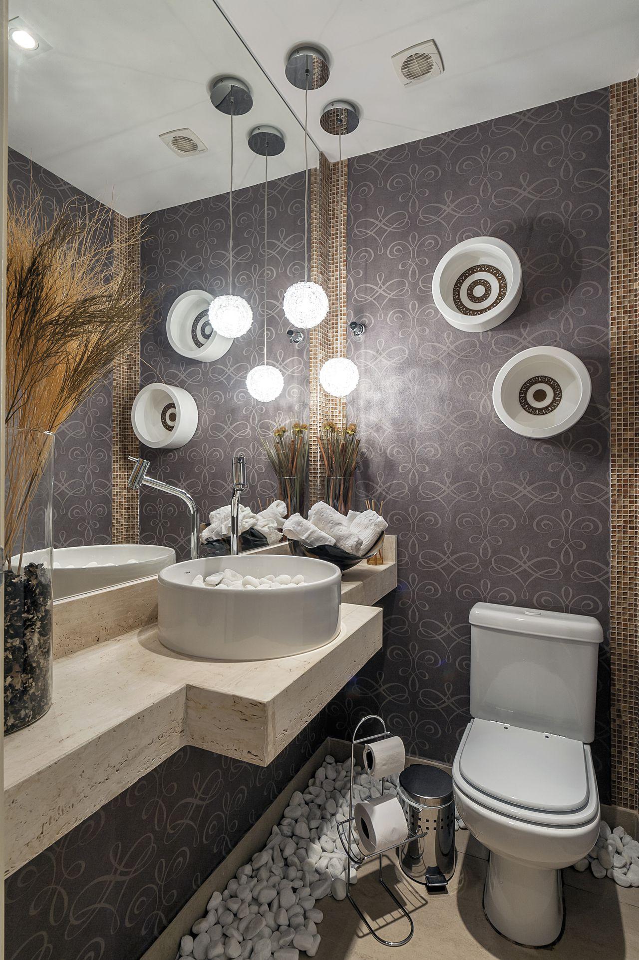 Tipos de cuba para banheiro: cuba de apoio (Projeto: Manoela Lustosa)