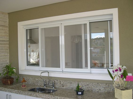 Tipos de janelas: janela de PVC