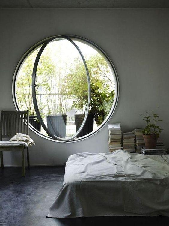 Tipos de janelas: janela pivotante