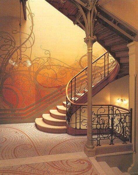 Art Nouveau: Balaústre da escada da Casa Solvay