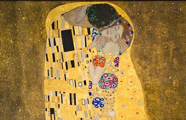 Art Noaveau: Gustave Klimt (O Beijo)