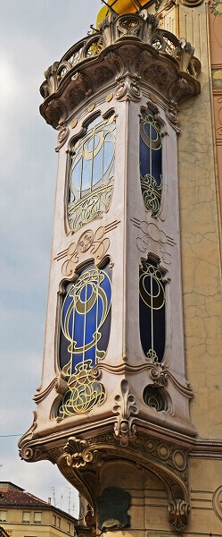 Art Nouveau: Janela Casa Fenoglio Lafleur (Itália)