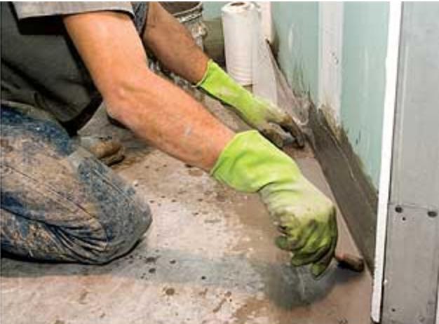 Drywall para banheiro: Impermeabilização em drywall verde