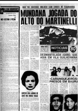Edifício Martinelli: Manchete de jornal noticiando crime no local