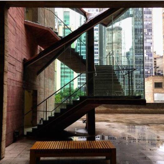 Praça das Artes: Detalhe das Escadas