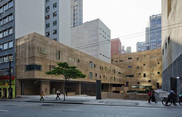 Praça das Artes: Fachada