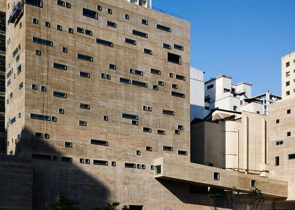 Praça das Artes: janelas