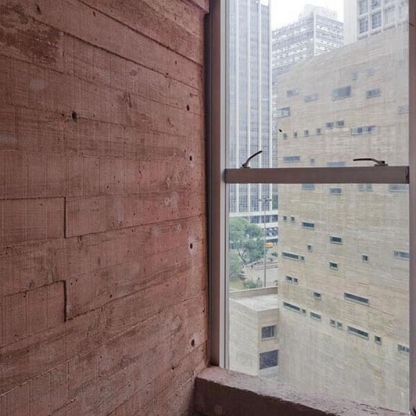 Praça das Artes: Vista de uma das janelas