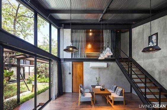 Steel Frame é opção excelente para projetos de loft (foto: Arkpad)