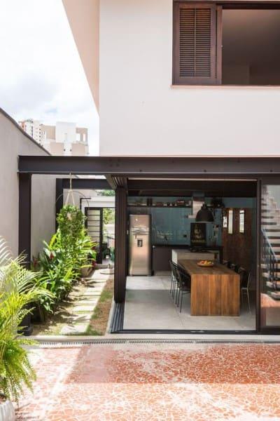 Steel Frame: casa com área gourmet (foto: Manuel Sá)