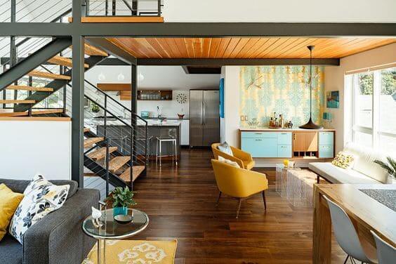 Steel Frame: casa con ambientes integrados
