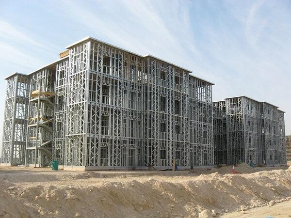 Estructura de acero: trabaja con 4 pisos