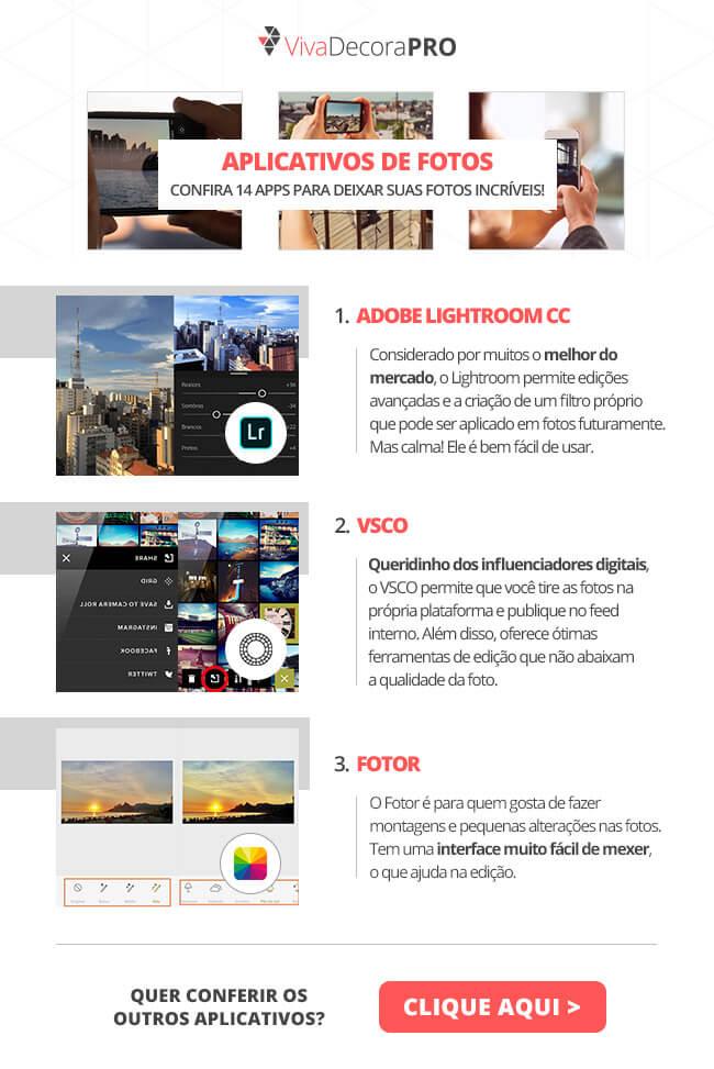 Infográfico - Aplicativos de Fotos