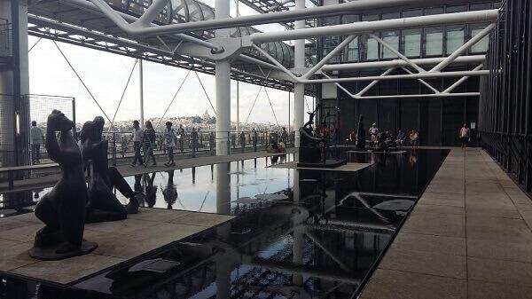 Centro Georges Pompidou: área externa