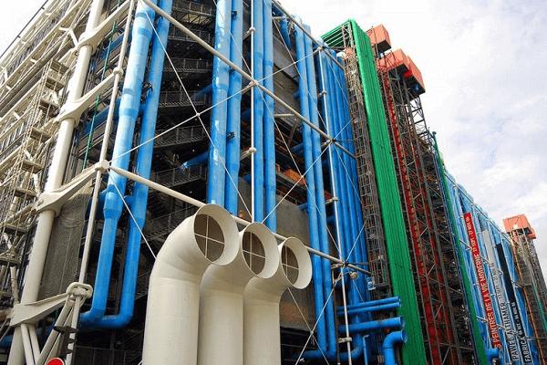 Centro Georges Pompidou: tubos coloridos