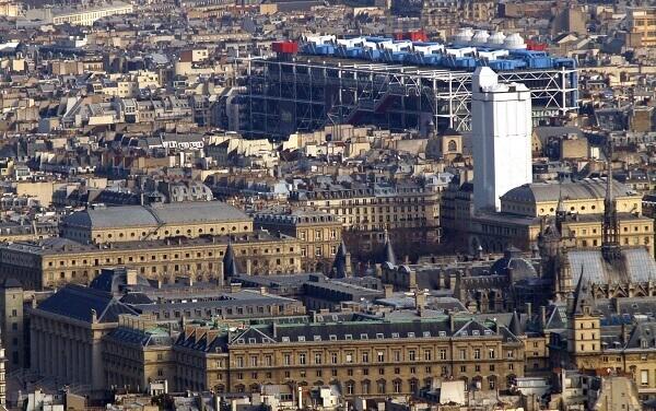 Centro Georges Pompidou: vista aérea
