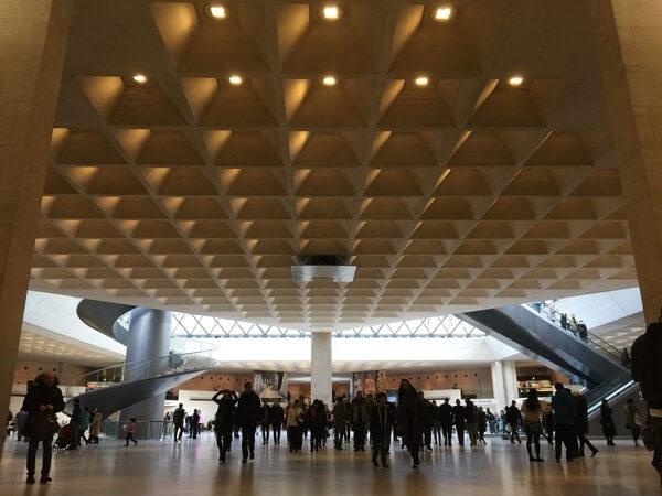 Laje de concreto: laje nervurada no museu do Louvre