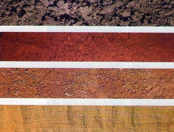 Tipos de solos: cores do solo