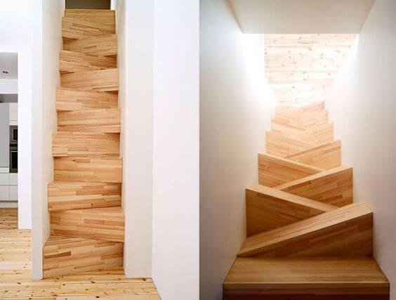 Escada Santos Dumont com degrau diferenciado