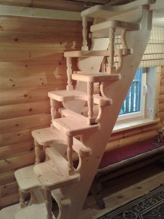 Escada Santos Dumont de madeira