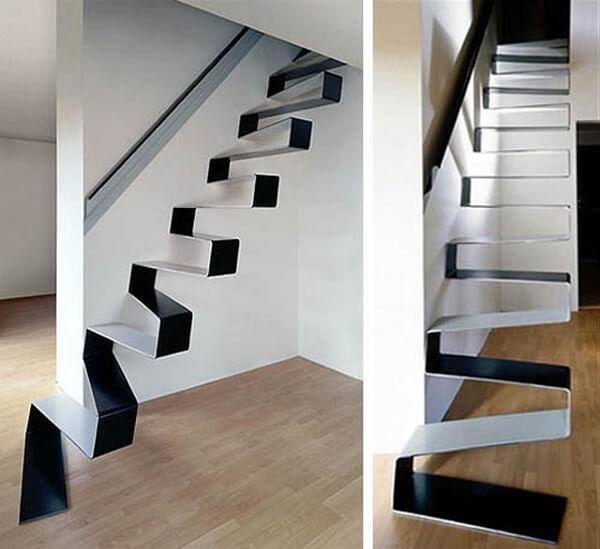 Escada Santos Dumont: escada com degraus em fita