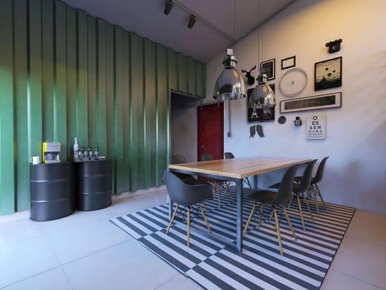Telha sanduíche parede da sala