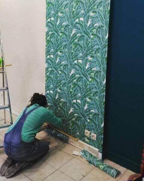 Tipos de papel de parede: aplicação