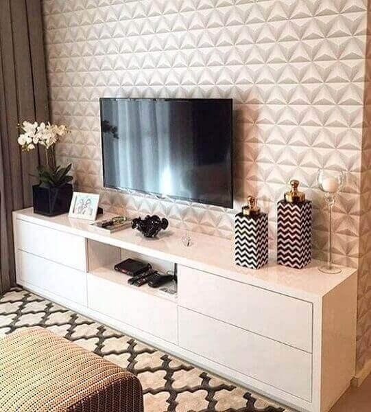 Tipos de papel de parede: papel de parede 3D