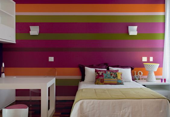 Tipos de papel de parede: papel de parede com listras