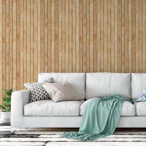 Tipos de papel de parede: papel de parede de madeira