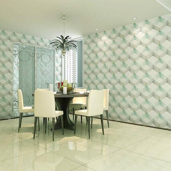 Tipos de papel de parede: papel de parede vinílico