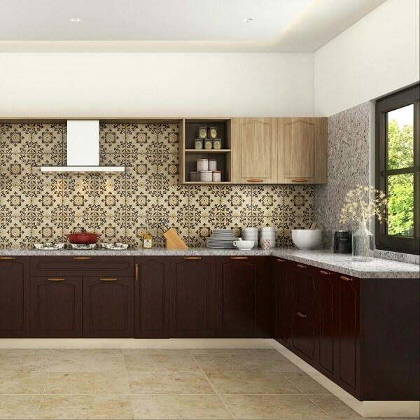 Cerâmica: revestimento cerâmico decorado na cozinha