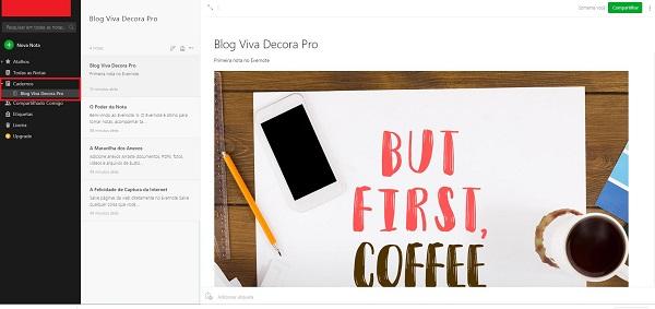 Como usar Evernote: cadernos