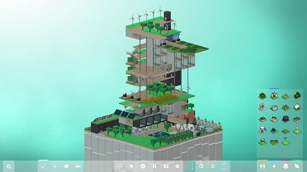 Jogos de construir: Block'hood (Edifício Sustentável)