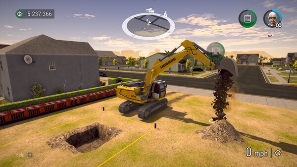 Jogos de construir: Construction Simulator (escavando a terra)