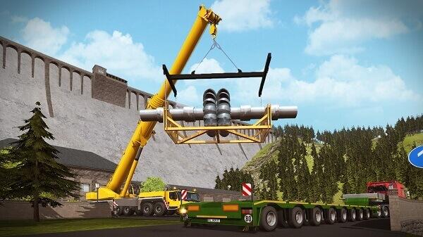 Jogos de construir: Construction Simulator (transporte de materiais)