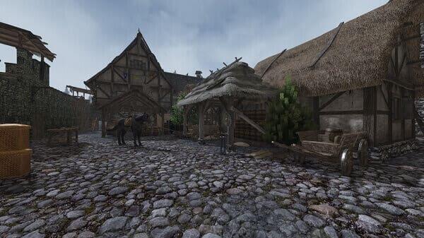 Jogos de construir: Life is Feudal Forest Village (visão em primeira pessoa)