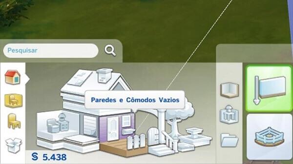 Jogo de construir casa: The Sims (construindo casa)