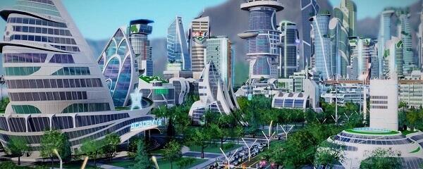 Jogos de construir: SimCity (cidade futurista)