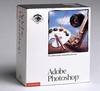Photoshop: caixa original do Adobe Photoshop 1.0