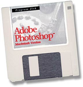 Photoshop: disco do Photoshop 1.0