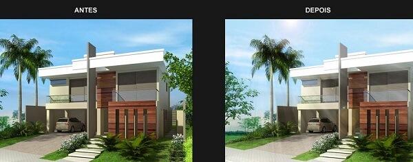 Photoshop para arquitetos: antes e depois